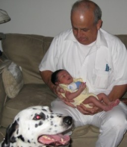 My Dad with his grandson ...