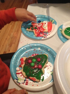 After all the taste testing I decided to go back to the table and check out my sons awesome creations.