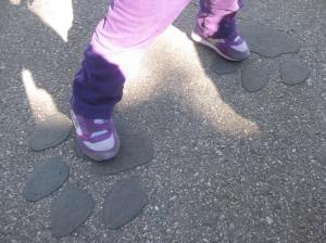 """We found """"dinosaur"""" footprints and decided to investigate."""