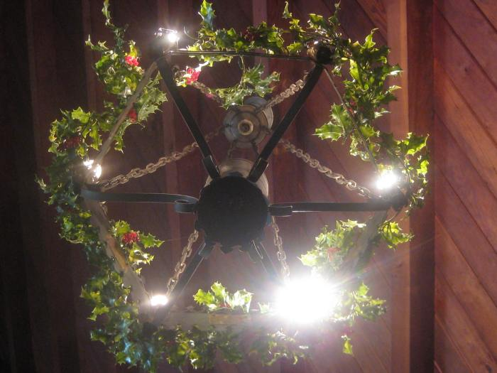The hanging wreaths