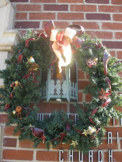 The outdoor decorations.