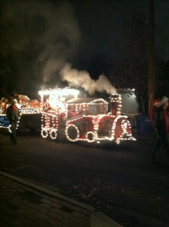 Santa's Train in the Christmas Parade