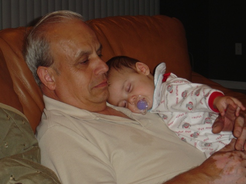 My dad hanging out with one of his grandsons.