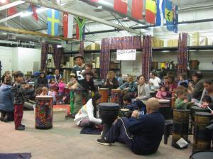 The Big Leagues. We hit our second workshop: A Drum Circle.