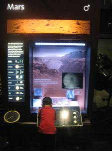 My son thought Mars was cooler. There was a microscope and scientific data involved.