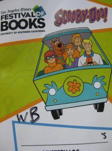 As we walked through all the booths we came across the Warner Bros. both decided to participate in the Scooby Doo Mystery Machine Scavenger Hunt.