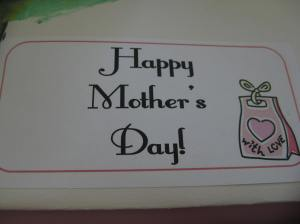 While snacking on treats I explored the Mother's Day folder created by son.