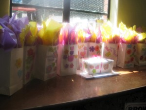The little goodie bags waiting for moms