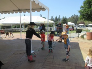 We started with rope tricks and realized we lacked the wrist action to be awesome cowboys ... we were urban cowboys.