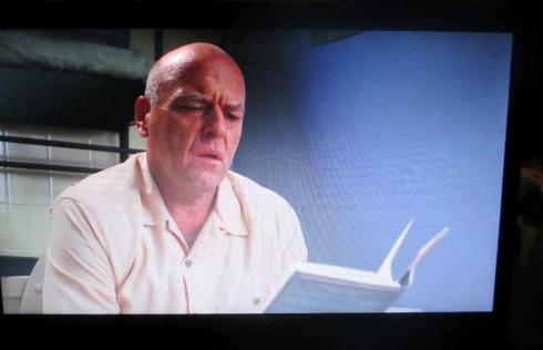 When Hank realizes who WW is ... He reads the inscription and has a flashback.