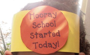 """I was happy to see him smile when he saw me, happy to hear about his day, happy to hear that he got a """"peacekeeper"""" badge for being well-behaved, and happy that the first day of kindergarten went better than expected."""