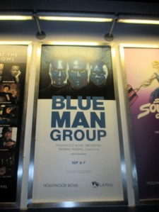 The Blue Man Group awaited us.