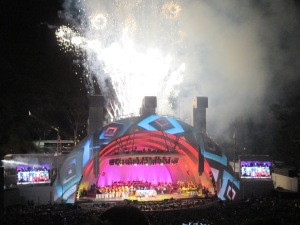 The evening continued and one of the best parts was the grand finale ... complete with fireworks and the encore.
