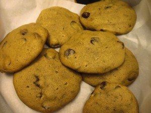 But the pumpkin chocolate chip cookie was of number one interest to everyone. I ate five of them in half an hour.