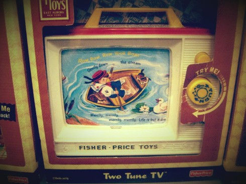 My first television ...