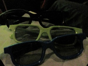 Our first 3D glasses, but probably not our last.