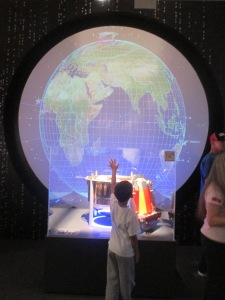 After the tool lesson,  we went to the technology area and checked out the satellite spy cameras. It was my favorite exhibit.