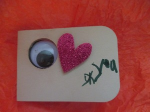 It also gave my son a chance to give me his Valentine's Day surprise. His handmade I Love You card rocked.