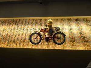 The LEGO artwork behind the reception desk was even cooler.