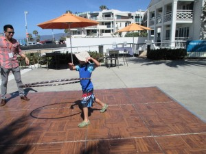 Then my son decided to enter the hula-hoop contest and master the five-year old division.