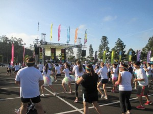 The only race that I know where the warm up is a Zumba Fest with prizes.