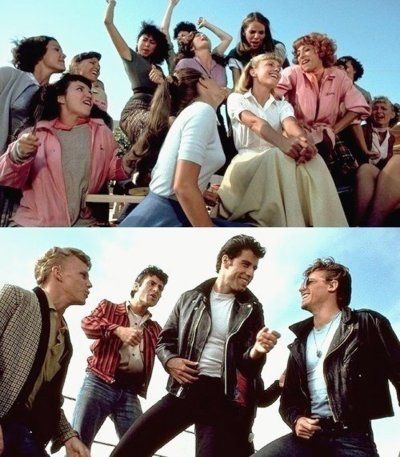 Grease with John Travolta and Olivia Newton-John
