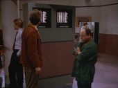 George and Kramer at the airport