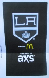His first hockey ticket.