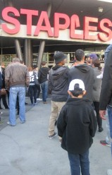 Heading into The Staples Center