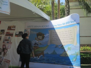 As we walked passed a few tents we noticed the WriteBrain tents, where storytelling is born.
