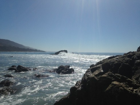 Appreciating the beach, the surfers and gaining peace at the same time. :)