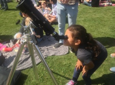There were all kinds of people sharing their telescopes