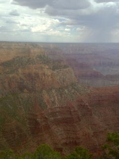 Cloudy and cool at the Canyon